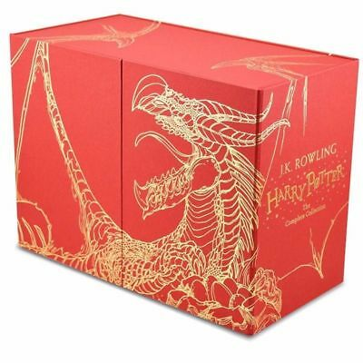 NEW Harry Potter 7 Books Complete Collection Hardback Gift Box Set FREE AU POST!