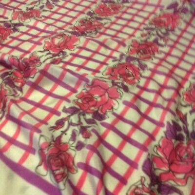 Scarf, Signed By Designer, Vera. Gray, Lilac, Pink.