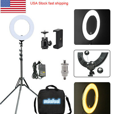 LED Ring Light Photography Dimmable Adapter Continuous Lighting Universal  14""