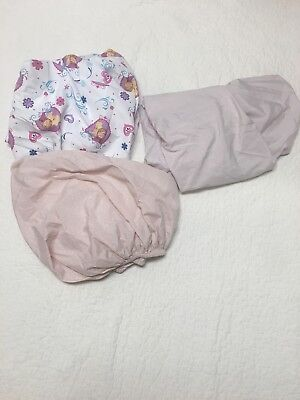 baby girl toddler fitted sheet lot  3 sheets included