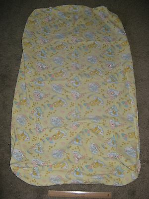 Vintage 1983 American Greetings Corp Care Bears Crib BedFITTED SHEET Fabric