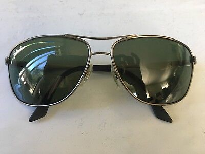 9f088eccbc7 RAY-BAN RB3506 029 9A Aviator Gunmetal Silver Polarized Sunglasses-W ...