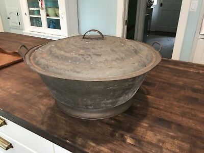 Vintage Antique Tin Dough Riser - Late 19th to Early 20th Century
