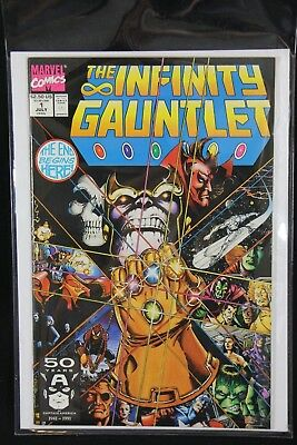 INFINITY GAUNTLET Marvel Comic Book 1 Jul 1991 Avengers War Thanos Silver Surfer