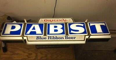 Vintage Original Pabst Beer at Popular Prices Lighted Block Letter Sign SEE PICS