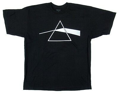 Authentic Pink Floyd Men's Dark Side of The Moon Logo Licensed T-Shirt Black New