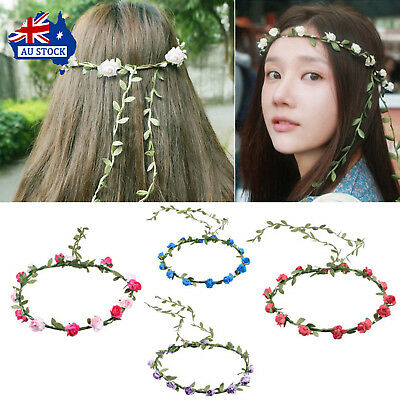 Headband Hair Garland Handmade Floral Flower Wedding Headpiece Headwear Flower