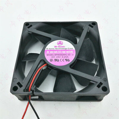 Bi-sonic BP802524HL-03 volume inverter fan DC24V 0.25A 80*80*25mm 2pin #C2