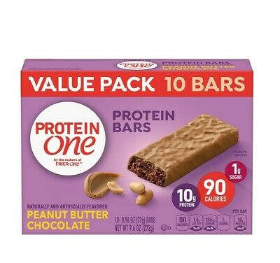 Protein One Peanut Butter Chocolate Bars Value Pack 10 Ct 9.6 Oz WORLD SHIP
