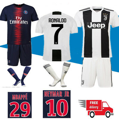 18/19 Football Jersey Authorized Soccer Home Kit for Kids 3-14 Boys Suit+Socks