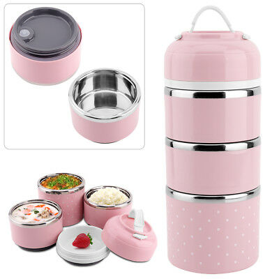 Portable Stainless Steel Thermal Lunch Box Lunch Box Picnic Storage Insulated