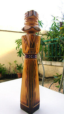 Antiques Wooden Hand Carved Man Egypt Egyptian HANDMADE Pharaoh ( 9.5 inches )
