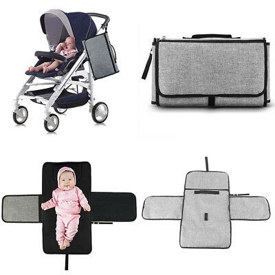 Baby Nappy Diaper Bag Changing Change Clutch Mat Foldable Pad Handbag Wallet KU