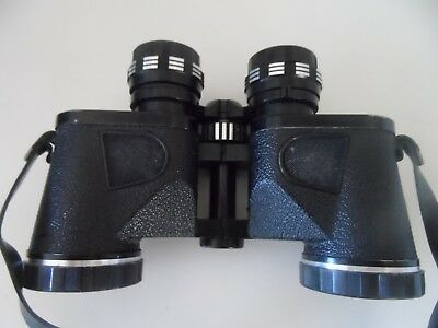 Vintage binoculars by Chinon with caps & case 7x35 extra wide angle Field 11 vgc