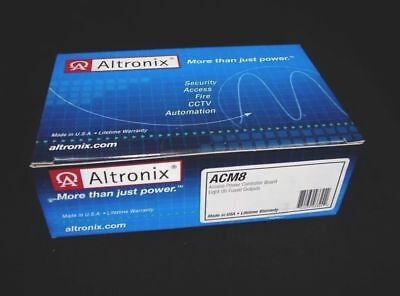 *NEW* Altronix ACM8 Access Power Controller 8 Fused Outputs Fire Alarm