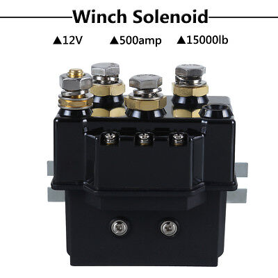12V 500Amp Winch Relay Switch Reversing Contactor Solenoid 1500lb Recovery 4x4