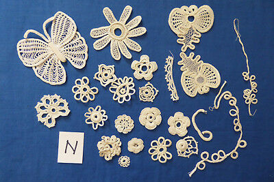 Vintage/antique Collection of Irish Crochet samples - 'N'