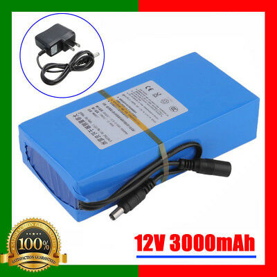 Portable DC 12V 3000mAh Rechargeable Li-ion Battery Pack for CCTV Camera Battery