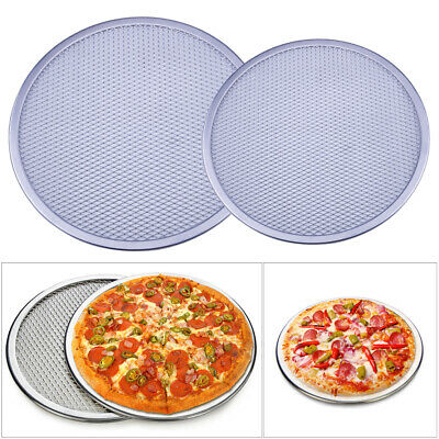 Non-stick Alloy Flat Mesh Pizza Screen Oven Baking Tray Net Bakeware Cookware