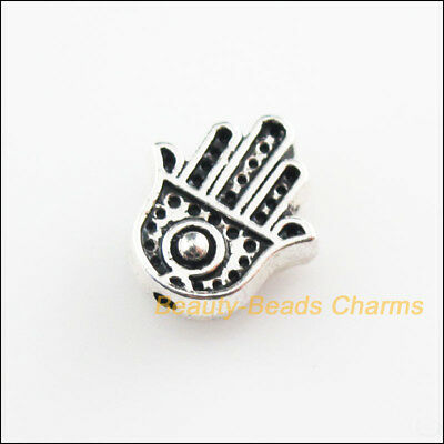 12 New Hand Palm Charms Tibetan Silver Tone Spacer Beads 10x11mm