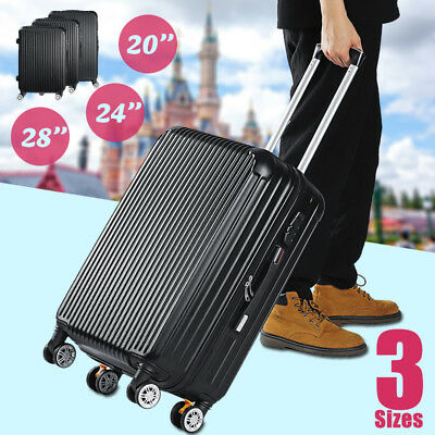 AU 20/24/28''Luggage Suitcase Trolley Travel Hard Case High Capacity Lightweight
