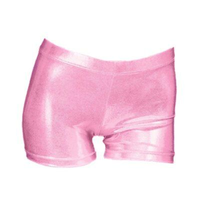 Girls Children Stretchy Shiny Hot Pants Shorts Dance Gym Tutu Shorts Dancewear