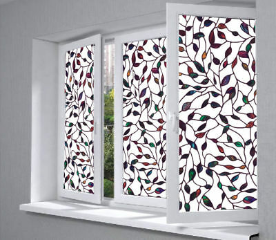 3D Painting Static Decorative Glass Frosted Window Film Privacy Block Decor