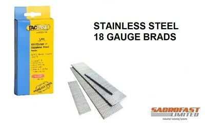 Stainless Steel 18 Gauge Brads By Tacwise (180 Type)