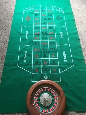 Roulette Wheel, Card Table And Accessories