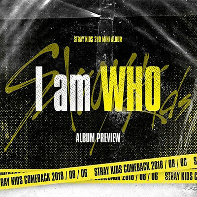 STRAY KIDS [I AM WHO] 2nd Mini Album CD+POSTER+Book+3Card+etc+Pre-Order SEALED