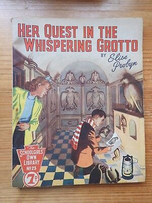 Schoolgirls' Own Library #23 Her Quest in the Whispering Grotto - Probyn VG+