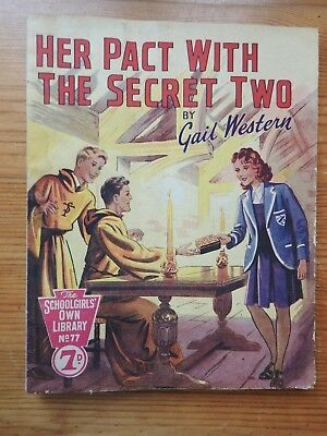 Schoolgirls' Own Library #77 Her Pact with the Secret Two - Gail Western    VG+