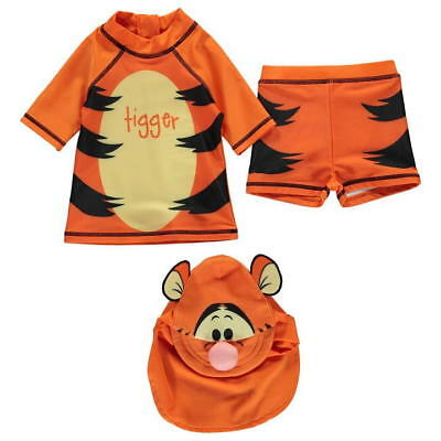 Disney Baby Boys Winnie The Pooh Tigger Character 3 Piece Swim Set Swimwear