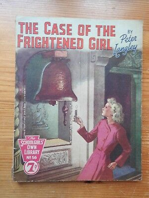 Schoolgirls' Own Library #56 The Case of the Frightened Girl - Peter Langley  VG