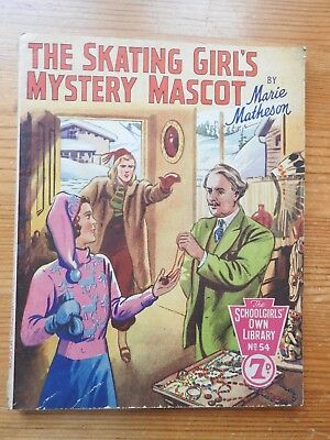 Schoolgirls' Own Library #54 The Skating Girl's Mystery Mascot - Matheson  VG