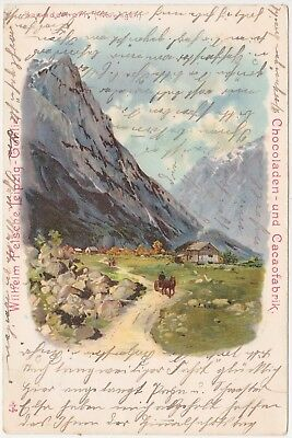 Norge - Romsdalshornet, Rauma (art postcard) - with stamp 1902