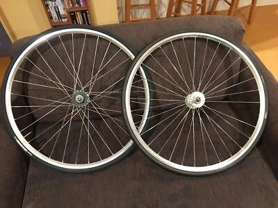 Velocity Track Wheelset w/ Roselli track cogs + Continental Tyres