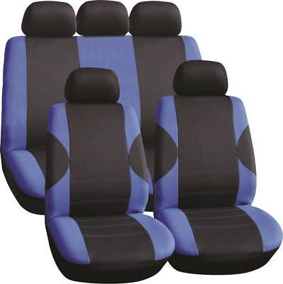 LUXURY BLACK & BLUE PANEL SEAT COVER SET for MERCEDES-BENZ C-CLASS C63 AMG