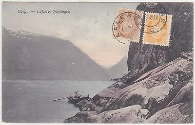 Norge - Eidfjord, Hardanger - with stamp 1910