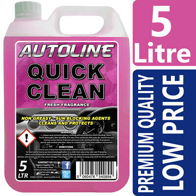 AUTOline  Pink Silicone Quick Clean Dashboard Shine Cleaner Trim and Plastic 5L