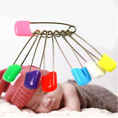 10pcs/Set Colorful Mini Baby Nappy Diaper Cloth Pins Safety Locking Clips