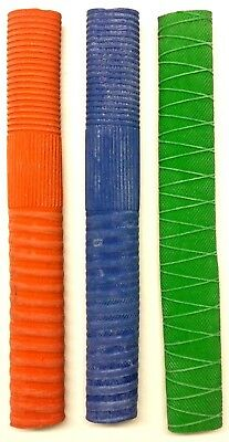 Cricket Bat Grip Handle Replacement Rubber Pack of 3 Mixed Colour CLEARANCE