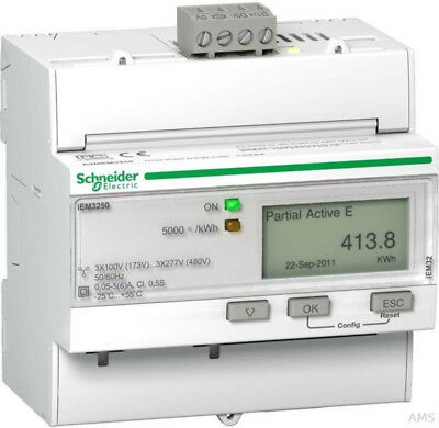 Schneider Electric A9MEM3250 Energy Meter - iEM3250 6A Watt-hour meter **NEW**