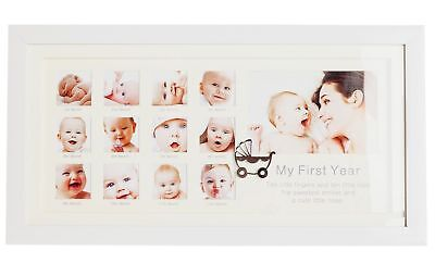 Baby's First Year 12 Months Photo Frame Boxed Present New Born Christening Gift
