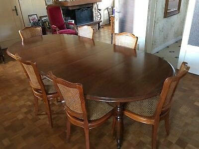 ancienne grand table de salle manger chene massif 6 chaises
