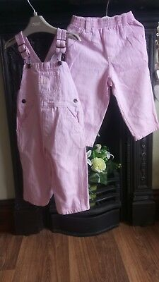 OSHKOSH pink long dungarees trouser bundle (twins or alternate looks (18 mths)