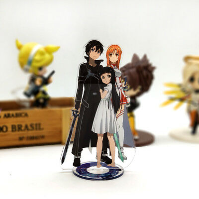 Sword Art Online Kirito Asuna Yui acrylic stand figure model table decoration