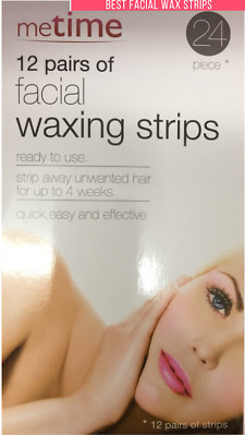 meTime facial waxing strips 24 PCS ready to use