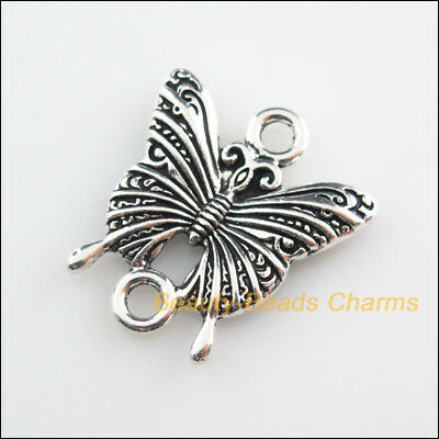 5 New Connectors Animal Butterfly Tibetan Silver Tone Charms 23x25mm
