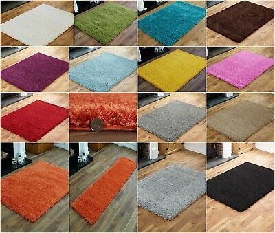 Small Medium Extra Large New Modern Non Shed Shaggy 5Cm Thick Shaggy Area Rugs